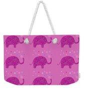 Elephant Pattern Weekender Tote Bag