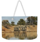 Elephant Refelction Weekender Tote Bag