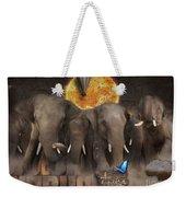 Elephant Run Weekender Tote Bag