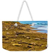 Elephant Seals Near Cambria  Weekender Tote Bag