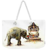 Elephant With Ganesha Weekender Tote Bag