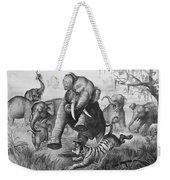 Elephants And Tiger, 1890 Weekender Tote Bag