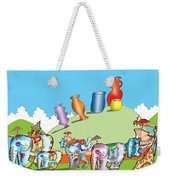 Elephants And Urns On A Hill Weekender Tote Bag