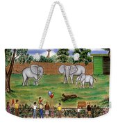 Elephants At The Zoo Weekender Tote Bag