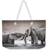 Elephants From Africa Weekender Tote Bag