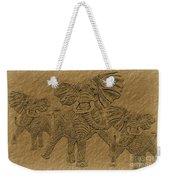 Elephants Three Weekender Tote Bag