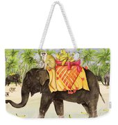 Elephants With Bananas Weekender Tote Bag
