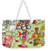 Elephants,cats And Rabbit Dreams Weekender Tote Bag