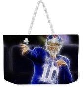 Eli Manning Weekender Tote Bag by Paul Ward