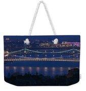 Elizabeth And Liberty Bridges Budapest Weekender Tote Bag