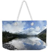 Elizabeth Lake Detail 2 - Glacier National Park Weekender Tote Bag