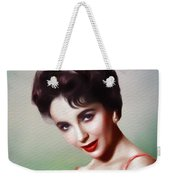 Elizabeth Taylor, Vintage Movie Star Weekender Tote Bag