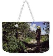 Eliza's Walk In The Countryside. Weekender Tote Bag