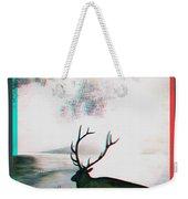 Elk - Use Red-cyan 3d Glasses Weekender Tote Bag
