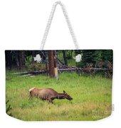 Elk In The Field Weekender Tote Bag