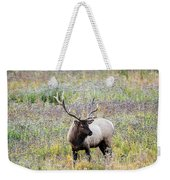 Elk In Wildflowers #1 Weekender Tote Bag