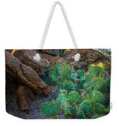 Elk Mountain Flowers Weekender Tote Bag by Inge Johnsson