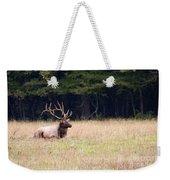 Elk Sitting Down Weekender Tote Bag