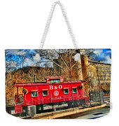 Ellicott City Train And Factory Weekender Tote Bag