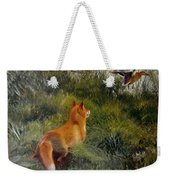 Eluding The Fox Weekender Tote Bag