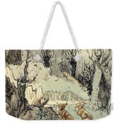 Elves In A Wood Weekender Tote Bag by Arthur Rackham