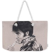 Elvis In Charcoal #177, No Title Weekender Tote Bag