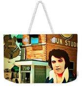 Elvis Presley The King At Sun Studio Memphis Tennessee 20160216 Square Weekender Tote Bag