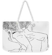 Elwyn Brooks White Weekender Tote Bag