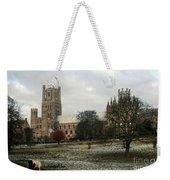 Ely Cambridgeshire, Uk.  Ely Cathedral  Weekender Tote Bag