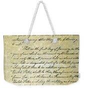 Emancipation Proc., P. 1 Weekender Tote Bag