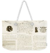 Emancipation Proclamation Weekender Tote Bag by Photo Researchers