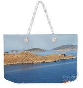 Emborio Harbour On Halki Island Weekender Tote Bag
