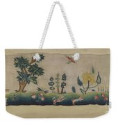 Embroidered Petticoat Border Weekender Tote Bag