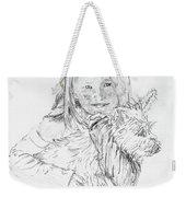 Emelyne With Er Dog Weekender Tote Bag