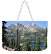 Emerald Bay With Mountain Weekender Tote Bag