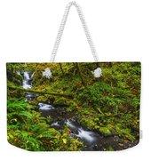 Emerald Falls And Creek In Autumn  Weekender Tote Bag