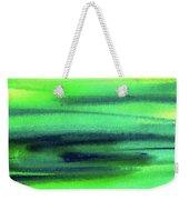 Emerald Flow Abstract Painting Weekender Tote Bag