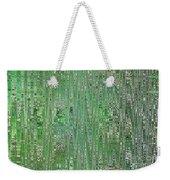 Emerald Green - Abstract Art Weekender Tote Bag
