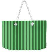 Emerald Green Striped Pattern Design Weekender Tote Bag