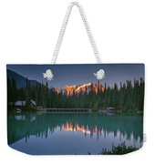 Emerald Lake At Sunrise Hour Weekender Tote Bag