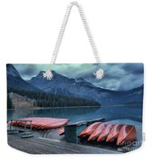 Emerald Lake Canoes Weekender Tote Bag
