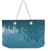 Emerald Lake Glacier Waters Weekender Tote Bag