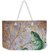 Emerald Lizard Weekender Tote Bag