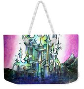 Emerald Palace Of Ancient Queen Of Space Aliens Weekender Tote Bag