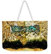 Emerald Ripples Weekender Tote Bag