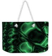 Emerald Shimmer Weekender Tote Bag