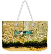 Emerald Tide Weekender Tote Bag