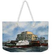 Emma Foss Barge Assist Weekender Tote Bag