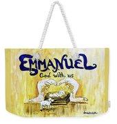 Emmanuel Weekender Tote Bag