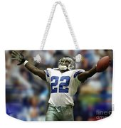 Emmitt Smith, Number 22, Running Back, Dallas Cowboys Weekender Tote Bag